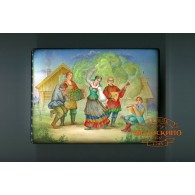 Russian Painted Box with the image - the Dance
