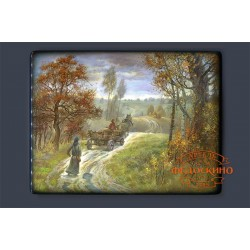 Russian Painted Box with the image - Autumn