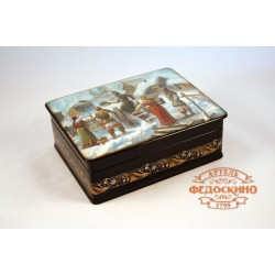 Russian Painted Box with the image - Ancient Rus