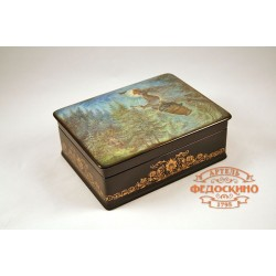 Box with a picture of Baba-Yaga