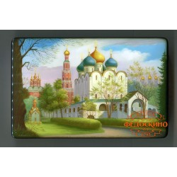 Russian Painted Box with the image - Architecture