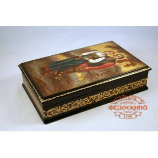 Russian Painted Box with the image For Rowan