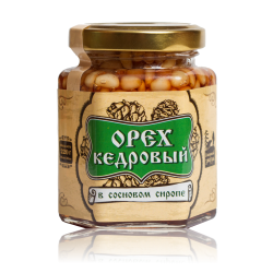 Pine nut kernel in pine syrup 220 g of Siberian Znahar
