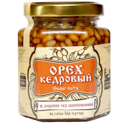 pine nut kernel in a syrup 220 g of rosehip Siberian Znahar