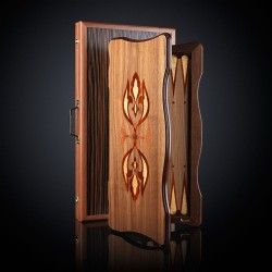 Designer Walnut Backgammon, luxe