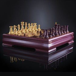 Purpleheart Chess Staunton luxe