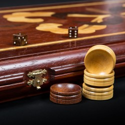 "Padauk Backgammon ""Crown"" luxe"