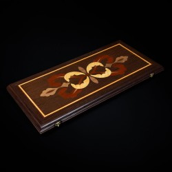 "Wenge Backgammon ""Crown"" luxe"