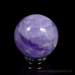Amethyst ball diameter 40-42mm, 90g, grade 2.