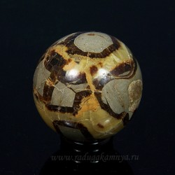 Ammonite ball of diameter 60-61mm, 307gr.