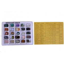 Collection minerals 25 gems. Blister