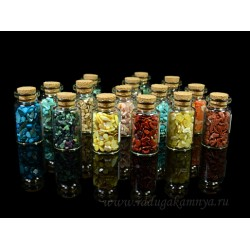 Collection of 15-wards minerals in vials