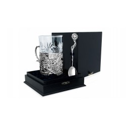"""Silver Cup Holder """"Gift"""" (cast)"""
