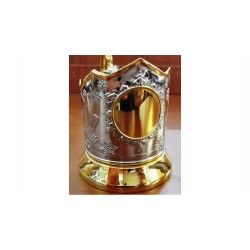 "Nickel-plated Cup holder ""Engraving"" gilded"