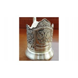 "Silver-plated Cup Holder ""Emblem of the Russian Federation"" niello"