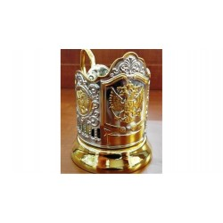"Nickel-plated Cup Holder ""Emblem of the Russian Federation"" with gilding"