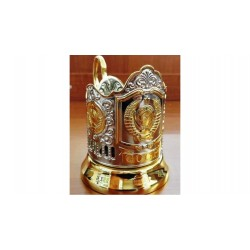 "Nickel-plated Cup holder ""Emblem USSR"" gilded"