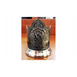 "Nickel-plated Cup Holder ""Grouse"" niello"