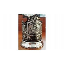 "Nickel-plated Cup Holder ""Fatherhood Honor Duty"" niello"