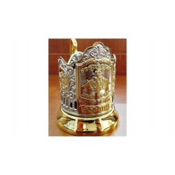 "Nickel-plated Cup Holder ""Fatherhood Honor Duty"" with gilding"