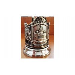 "Nickel-plated Cup Holder ""St. Isaac's Cathedral"" niello"