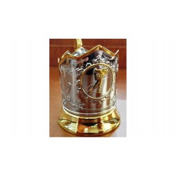 "Nickel-plated Cup Holder ""Skater"" with gilding"