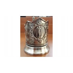 "Nickel-plated Cup Holder ""Romance"" niello"