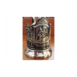 "Silver-plated Cup Holder ""Bronze Horseman"" niello"