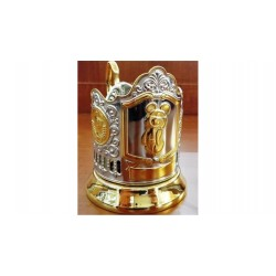"Nickel-plated Cup Holder ""Olympic bear"" gilded"