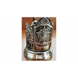 "Nickel-plated Cup Holder ""Order of Victory"" the Russian coat of Arms niello"