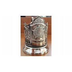 "Nickel-plated Cup Holder ""Order of Victory"" emblem of the USSR niello"
