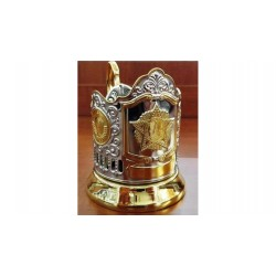 "Nickel-plated Cup Holder ""Order of Victory"" emblem of the USSR gilded"