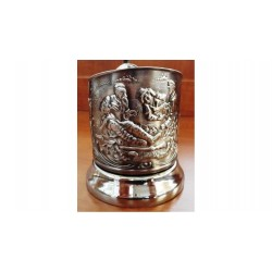 "Nickel-plated Cup Holder ""Hunter"" niello"
