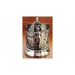 "Nickel-plated Cup Holder ""Russian Dance"" niello"
