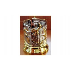 "Nickel-plated Cup Holder ""Russian Dance"" gilded"