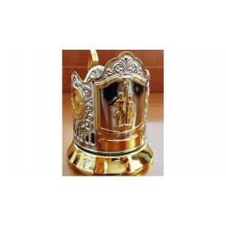 "Nickel-plated Cup Holder ""Worker and Farm Girl"" with gilding"