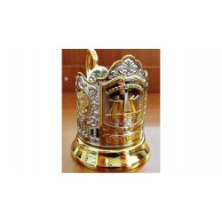 "Nickel-plated Cup Holder ""Drawbridges"" with gilding"