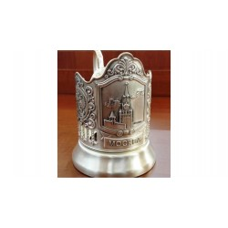 "Silver-plated Cup Holder ""Spasskaya Tower"" niello"