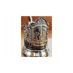 "Nickel-plated Cup Holder ""Spasskaya tower"" niello"