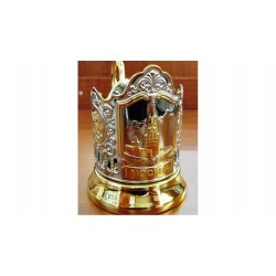 "Nickel-plated Cup Holder ""Spasskaya Tower"" gilded"
