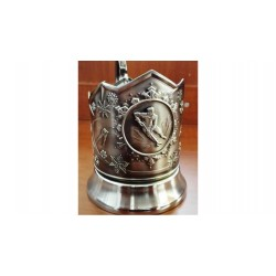 "Nickel-plated Cup holder ""Hockey"" niello"
