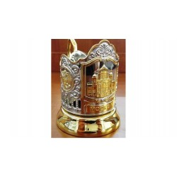 "Nickel-plated Cup Holder ""Christian Church of Christ the Savior"" gilded"