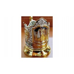 "Nickel-plated Cup Holder ""Yaroslavsky Railway Station"" with gilding"