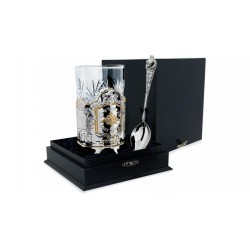 "Silver Cup Holder ""Fatherland"" with gilding"