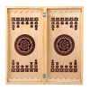 Backgammon small inlaid (bright and dark background)