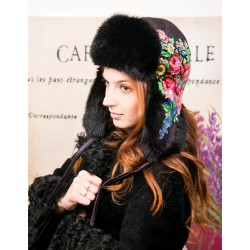 Women's ushanka  (natural rabbit fur)
