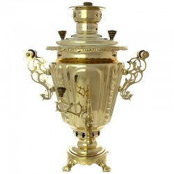 "Combined samovar 1,3 gal yellow ""Cone"" fluted, art. 310716"