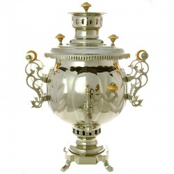 "Combined samovar 1,2 gal plated ""Ball"" Legally, no. 310501"