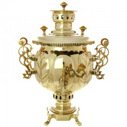 "Combined samovar 1,2 gal Brass ""Ball"", ""Premium"" Legally, no. 310514"