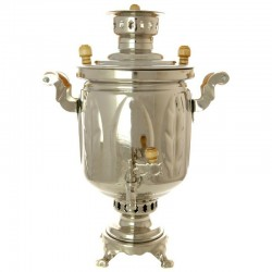 "Charcoal samovar 1,3 gal plated ""Cylinder"", ""leaves"", art. 220541"